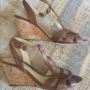 Alexandre Birman Cork Wedge Sandals Size 7